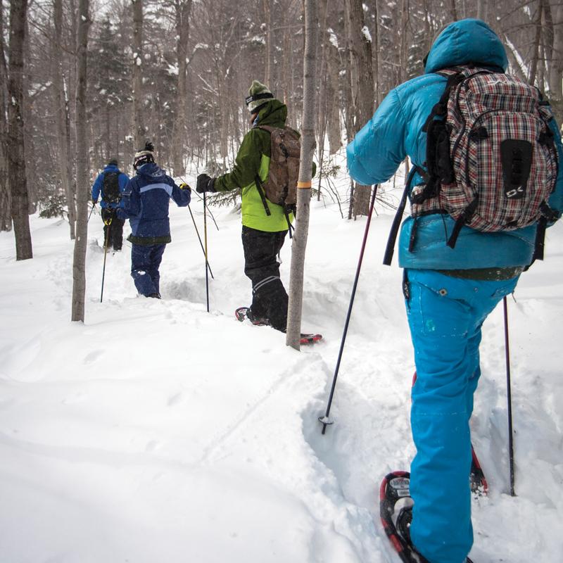Snowshoe tour courtesy of Sugarbush