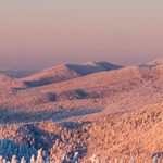 Looking north along the Monroe Skyline toward Camel's Hump - Green Mountains, Vermont